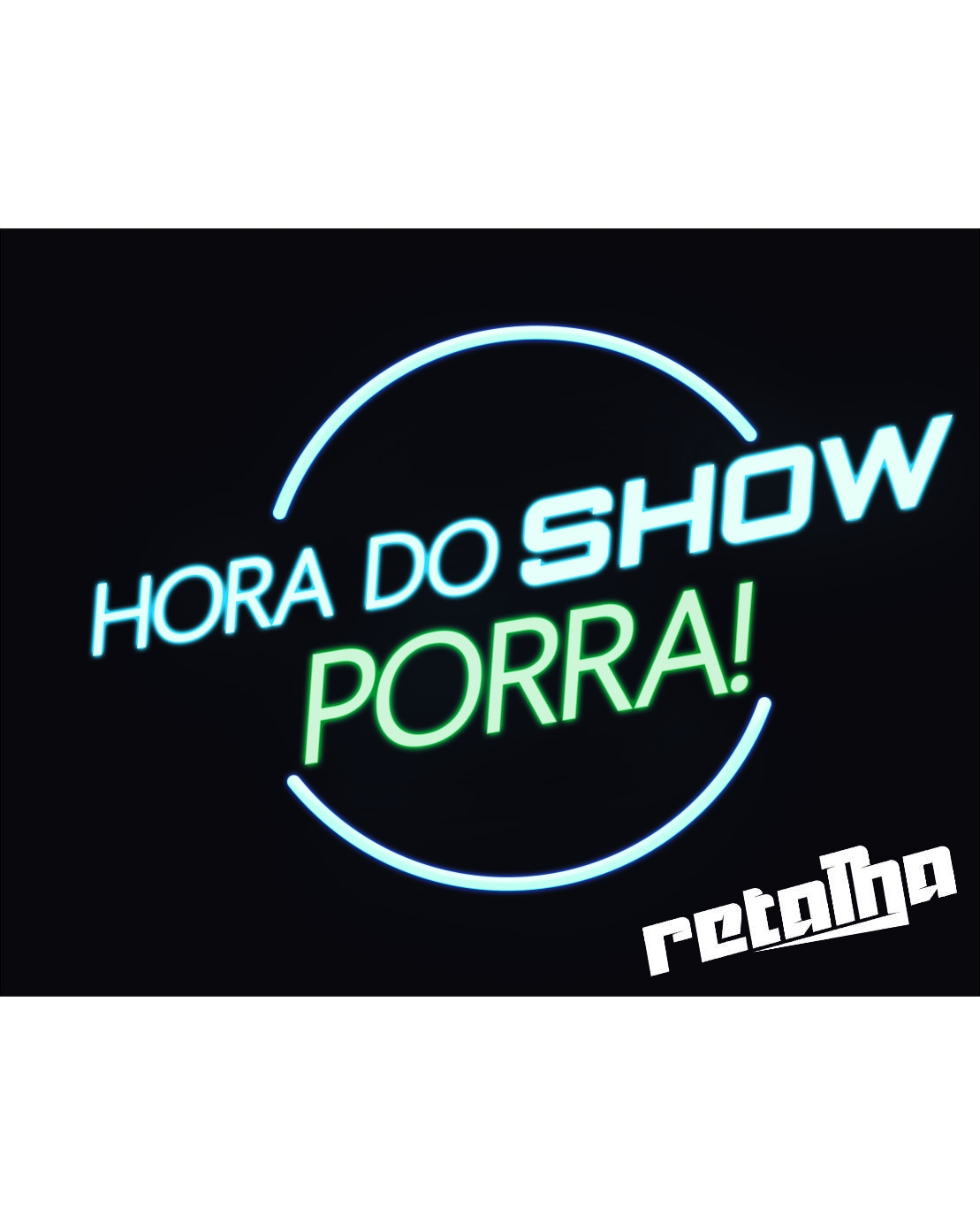 Placa HORA DO SHOW 18x23cm